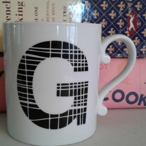 West elm monogram coffee mug